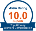 Avvo Rating 10.0 Superb, Top Attorney Works' Compensation